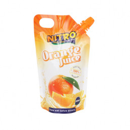 beverage packaging_spout pouch packaging for orange juice